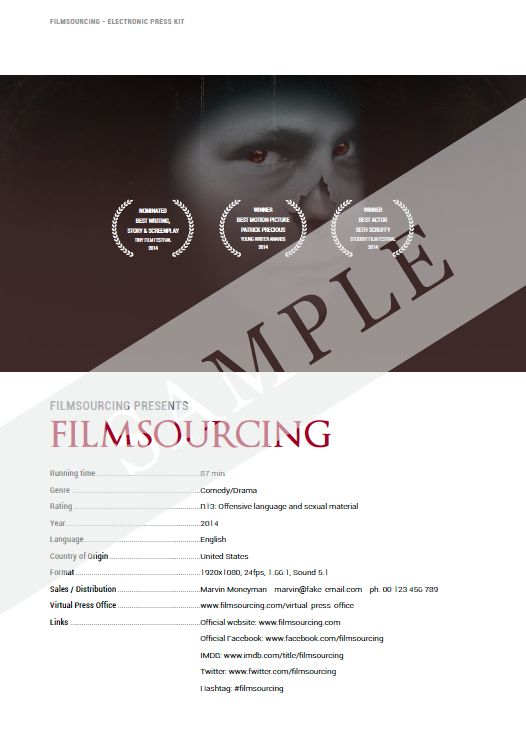 electronic press kit template free - 36 best images about filmmaking production document