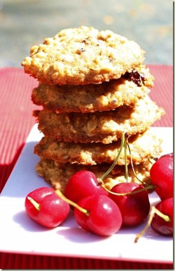 Chewy Cherry Oatmeal Cookies | ♨ SWEETS~licking the screen ...