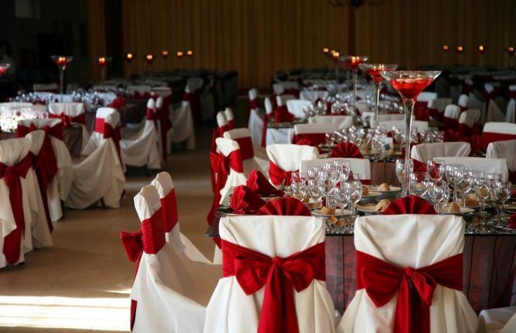 Ideas para una boda en rojo y blanco
