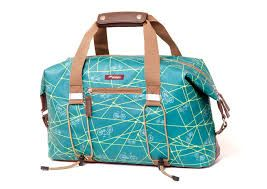 bike share bags from Po Campo in the eye-catching Emerald Bike Ride print