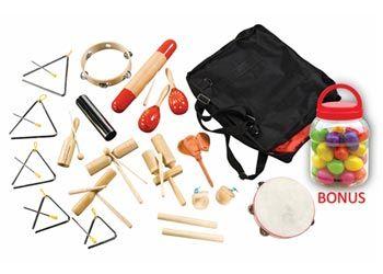 Percussion Kit with Bonus Egg Shakers Set