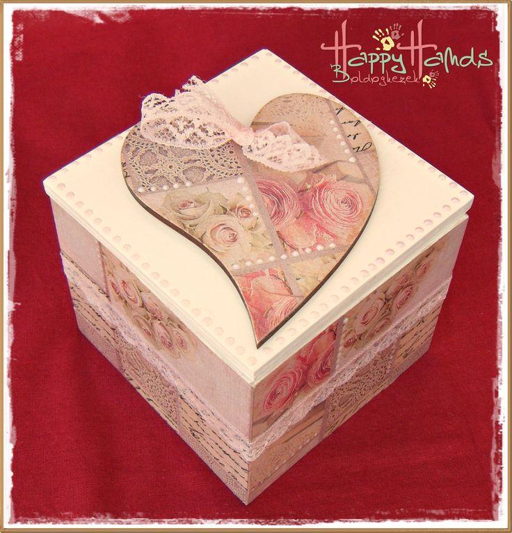 10x10 cm-es romantikus dobozka