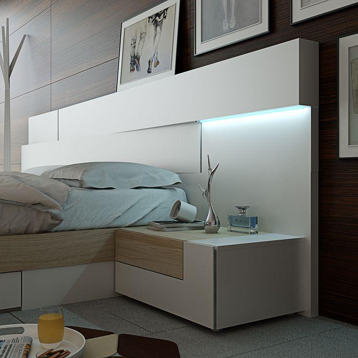 17 mejores ideas sobre cabeceras de cama modernas en for Colores de muebles modernos