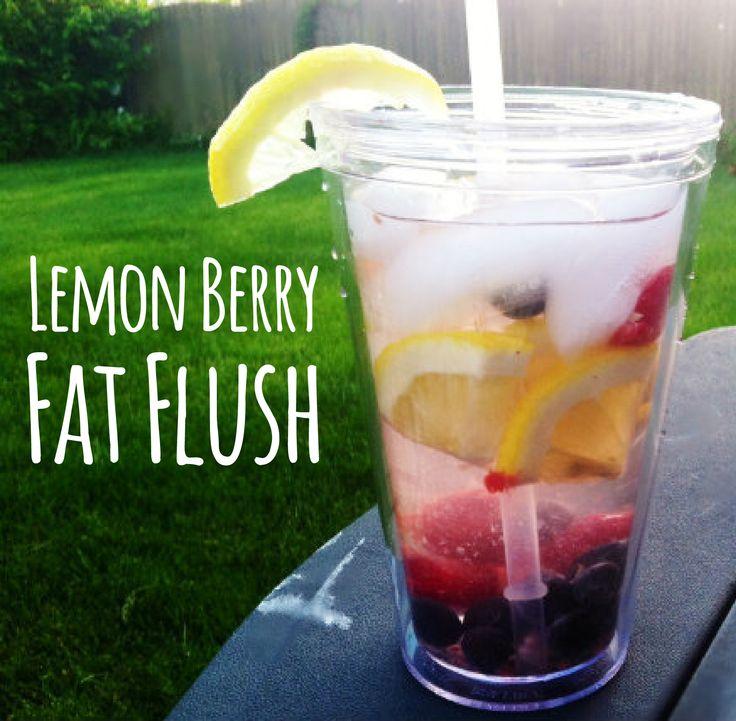 Lemon Berry Fat Flush. (Blueberries, raspberries and lemon)