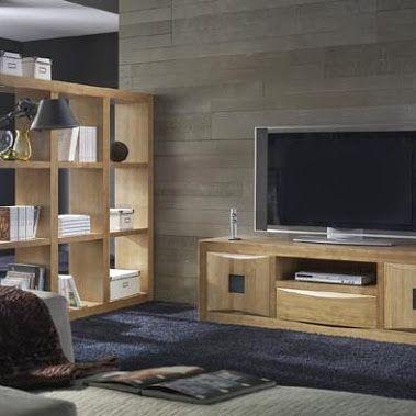 Muebles para salon madera maciza modelo neila muebles para madrid 20 descuento - Modelos de muebles de salon ...