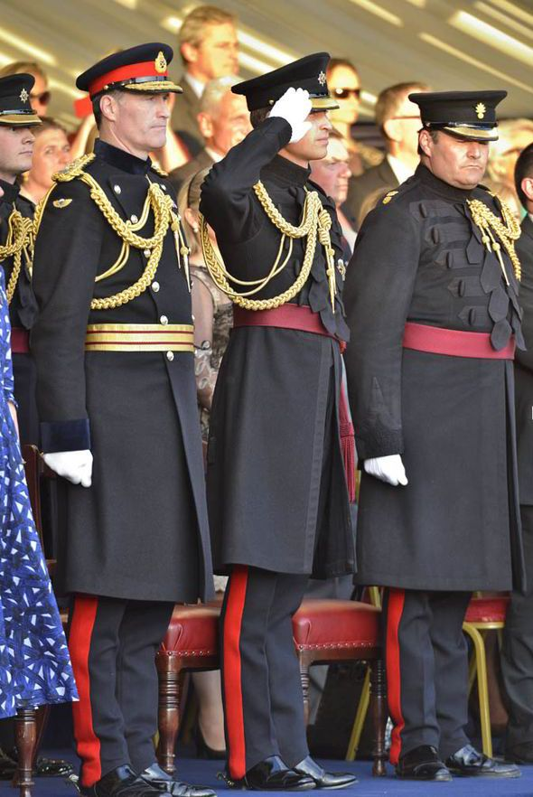 June 12th, 2014 - PRINCE William took the salute for the first time tonight at one of the highlights of London's ceremonial summer of pomp and pageantry.