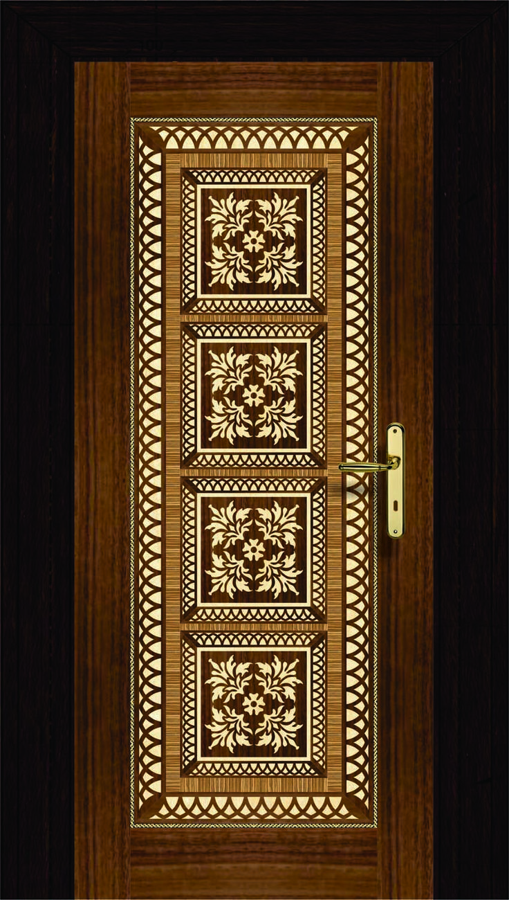 NI-008 Veneer Designed Doors Our website .niduae.com 3D Wave Wall & 17 best Doors images on Pinterest | Door design House interiors and ...