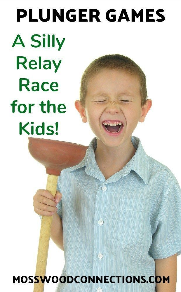 Plunger Games; A Silly Relay Race for the Kids. #outdoorfun #grossmotorgames #relayrace #kidspartyideas #mosswoodconnections