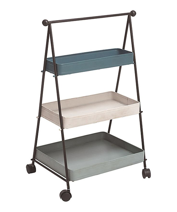 Look what I found on #zulily! Three-Tier Wheeling Metal Plant Holder by Transpac #zulilyfinds