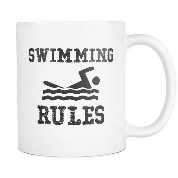 Swimming Rules - Swimming Coffee Mug, 11 Ounce