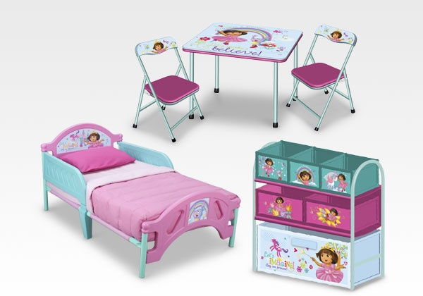 Dora Room in a Box from Delta Children #furniture #DoratheExplorer #bedroom #kids