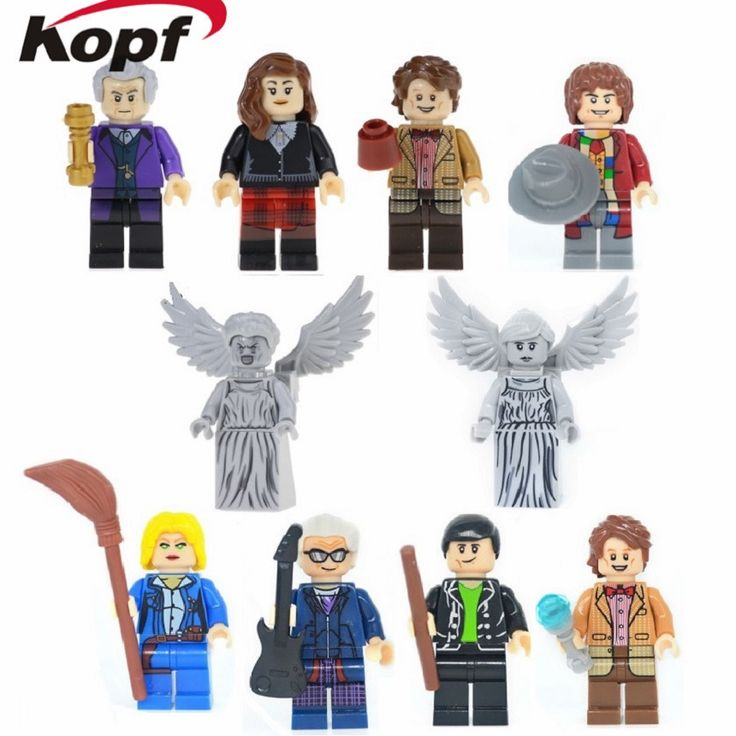 Super Heroes Dr. Who Matt Smith Christopher Eccleston Peter Capaldi Panda Man Wonder Woman Building Blocks Children Gift Toys