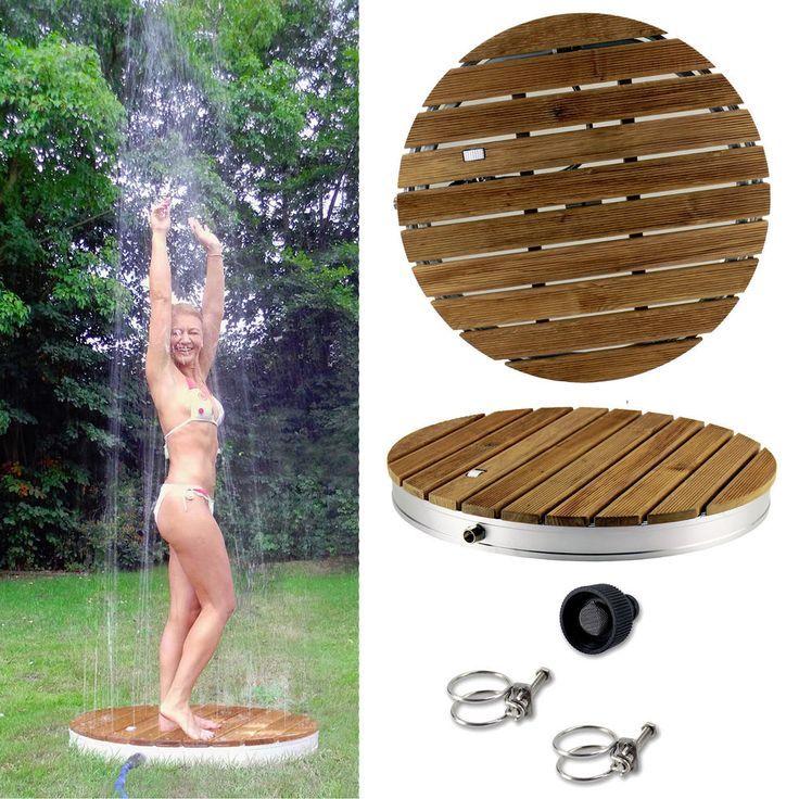 Douche de jardin en teck Douche extérieure Douche de piscine Jardin Douche de jardin Douche extérieure
