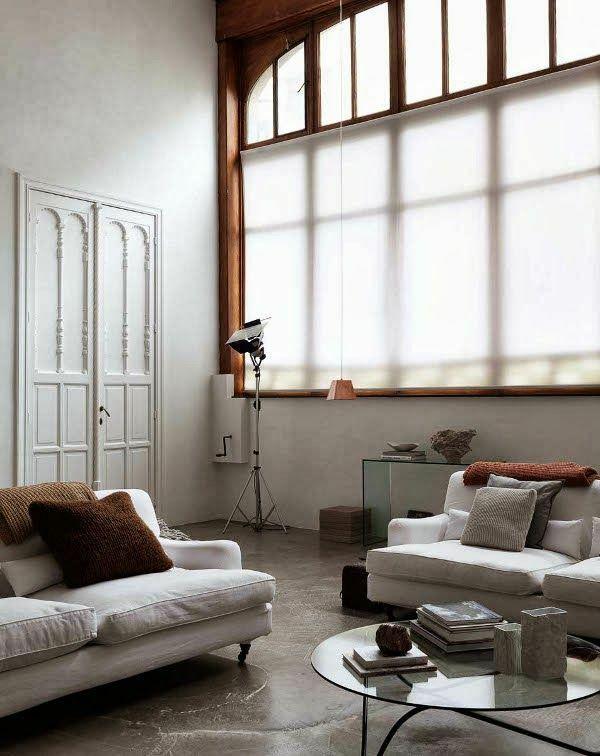 transparent Fenstergestaltung leicht gardinen rollos privat