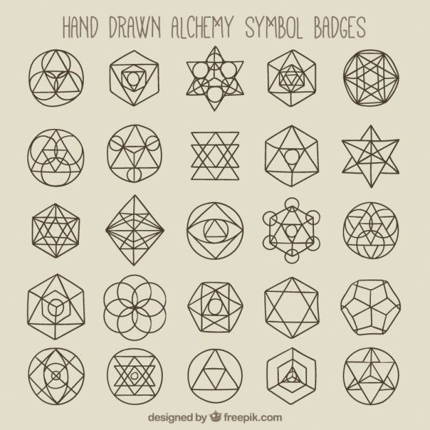 Símbolos e insignias geométricas Vector Gratis