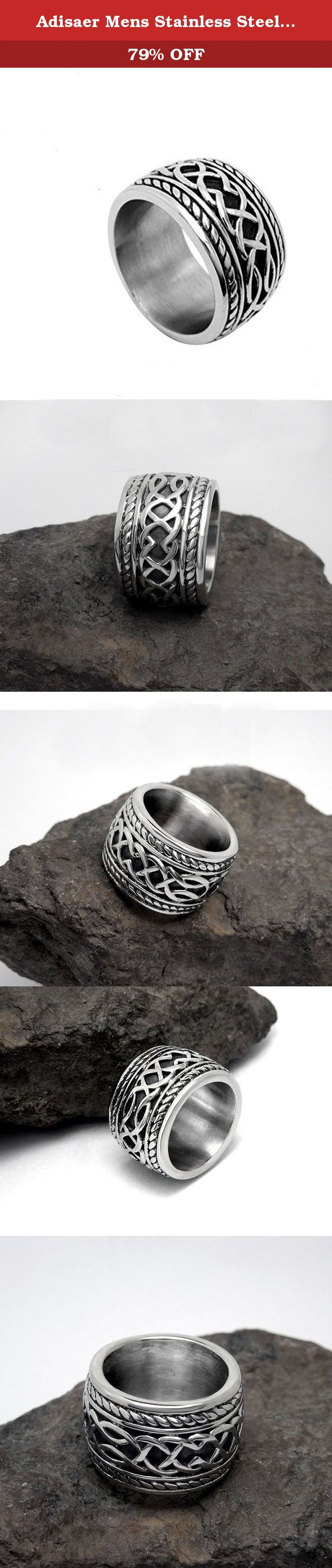 Adisaer Mens Stainless Steel Finger Rings Retro Punk Width 14.3MM Gothic Band Vintage Ring Size 10. ∞ Brand Source ∞ A: At here waiting for you D: Doesn't mind how long it takes I : I love you S: So I do A: A whole heart for you E: Envisions the whole of you R: Run with you in the future Adisaer is not just jewelry, but sweet promises. Life is like a journey, Adisaer apply to join your trip sincerely and hope can become your close partner. She would love to accompany with you in every...