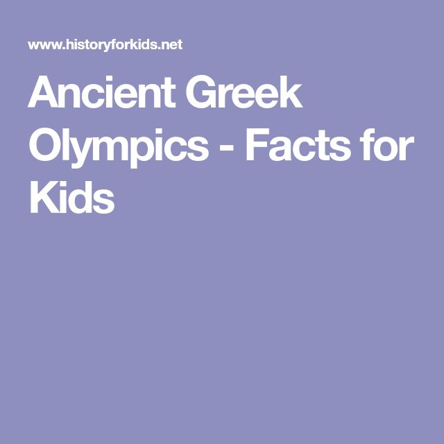 Ancient Greek Olympics - Facts for Kids