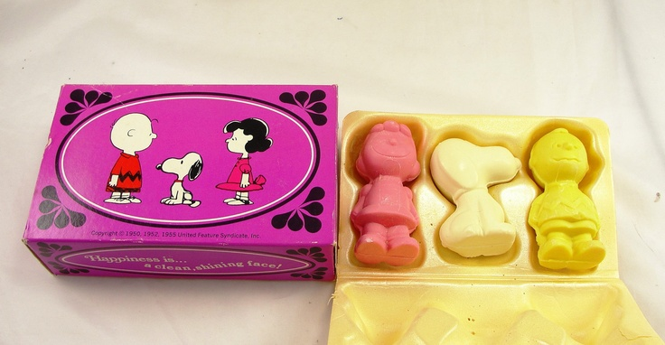 Vintage Avon Peanuts Soap Bubble Bath Shampoo Characters Lucy Snoopy Linus Schroeder Charlie. $64.95, via Etsy.