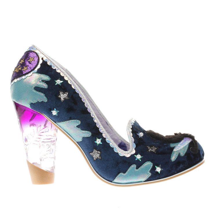 Womens Navy & Pale Blue Irregular Choice Stars At Night High Heels
