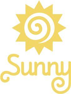 Silhouette Online Store - View Design #10879: 'sunny' word logo phrase set