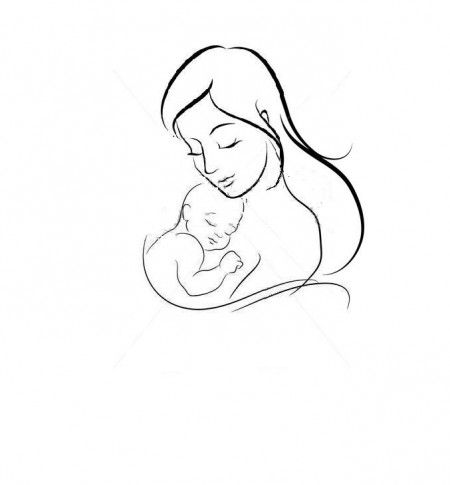 Mother & child. could be a tribute to kids with their names beneath