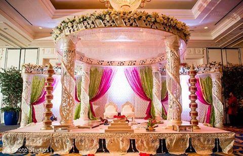 Wedding Mandap...captured by @f8photostudios...#bigindianwedding #indianwedding…