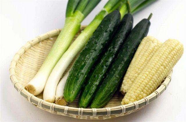 pór - uhorky - kukurica - zelenina