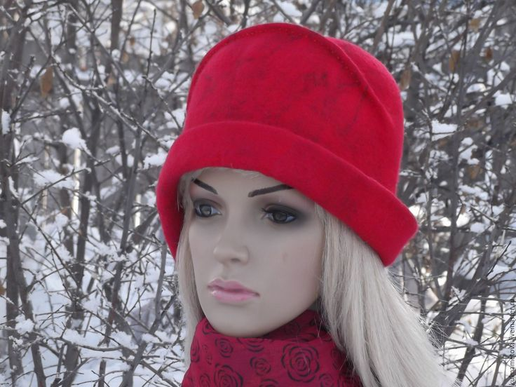 Шляпка зимняя валяная Метель