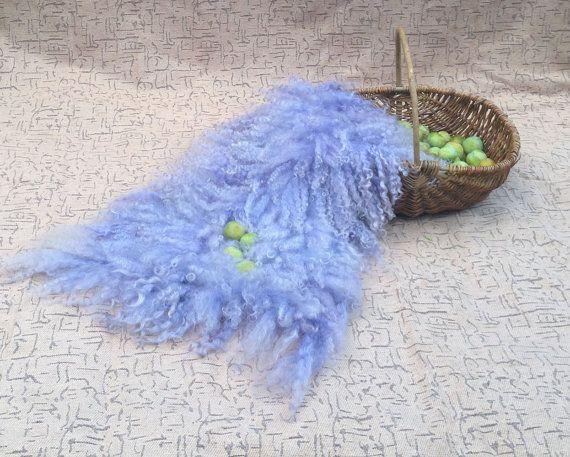 Flokati Fluffy Fur Rug Curly Fleece Real Wool Hand by FeltFur, $125