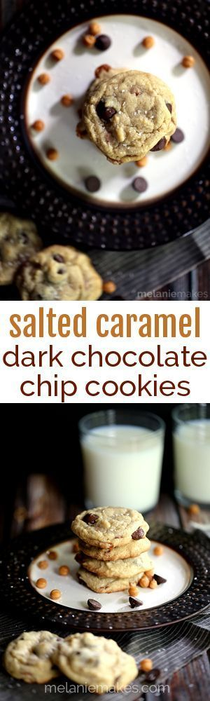 My favorite dark chocolate chip cookies are studded with caramel bits ...