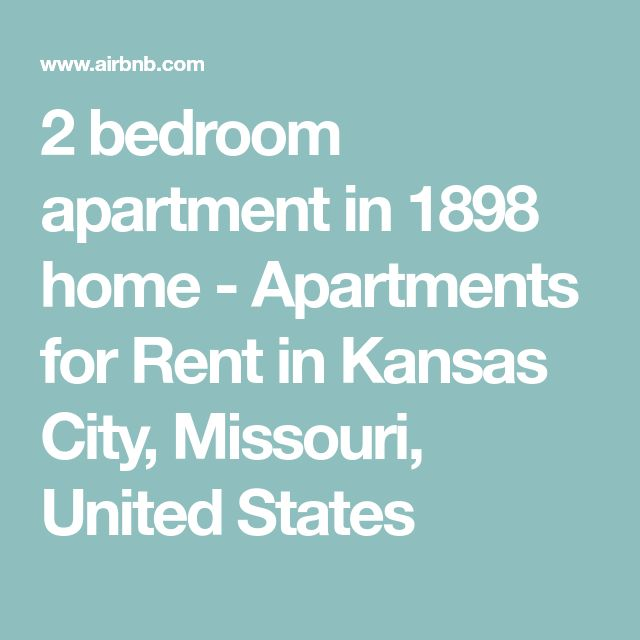 Apartments In Kansas City That Accept Section 8: 2 Bedroom Apartment In 1898 Home