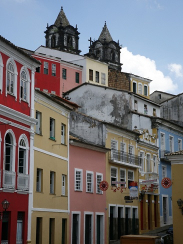 Cobbled Streets and Colonial Architecture, UNESCO World Heritage Site, Salvador, Brazil