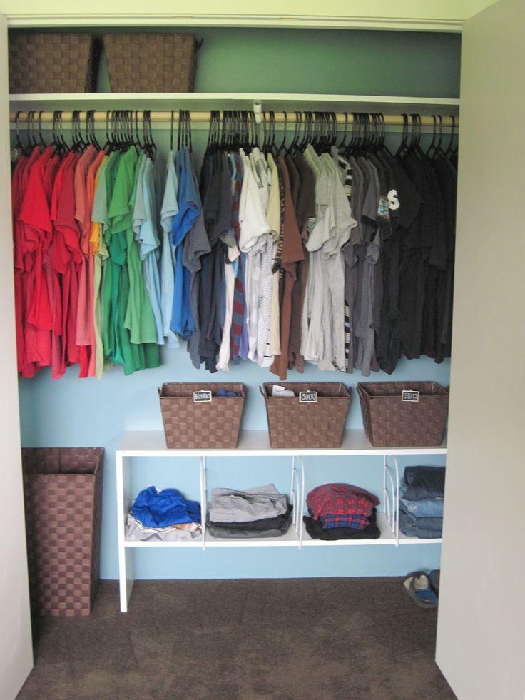 Kids closet organization tips.  Organization by the Ocean