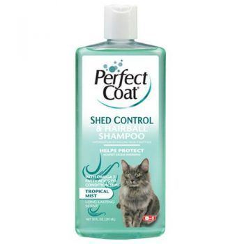 8 In 1 Pet Products CEOM637 Perfect Coat Shed and Hairball Control Cat Shampoo