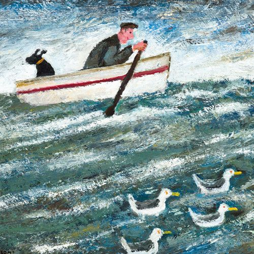 'The Great Boat Race' By Painter Paul Robinson. Blank Art Cards By Green Pebble…