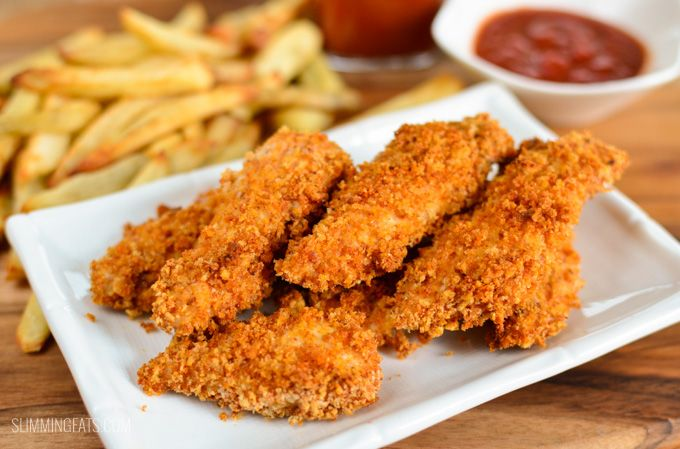 These chicken fingers (or goujons) are my kids favorite and best thing of all they are also Slimming World friendly. Chicken, homemade breadcrumbs and just the right seasoning makes these perfect. The chicken is always so tender and doesn't have that horrible processed taste that frozen ready made ones tend to have. You can always be sure...Read More »