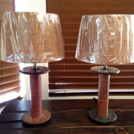 Rustic Lamp Set • Vintage Lamp • Country Lamp • Farmhouse Decor • Cottage Chic • Rustic Home Decor • Home & Living • Lighting Lamp
