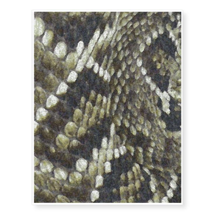 Rattlesnake Print Pattern Background Temporary Tattoos