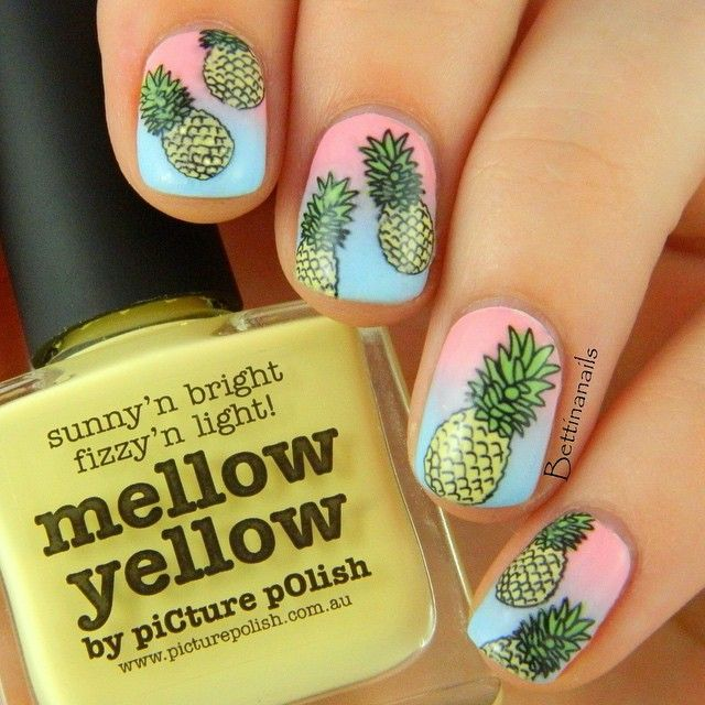 Best 25 pineapple nails ideas on pinterest pineapple nail instagram media bettinanails nail nails nailart pineapple nailspineapple nail designfruit prinsesfo Image collections