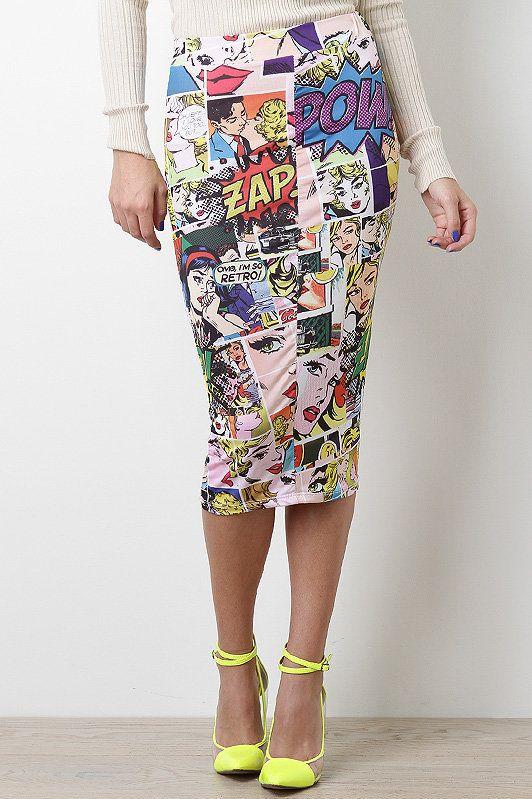 #UrbanOG                  #Skirt                    #Comical #Shock #Skirt    Comical Shock Skirt                                 http://www.seapai.com/product.aspx?PID=262526