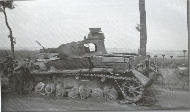 Panzer IV KO'ed in Amiens France. KIA 5 crew Wwii