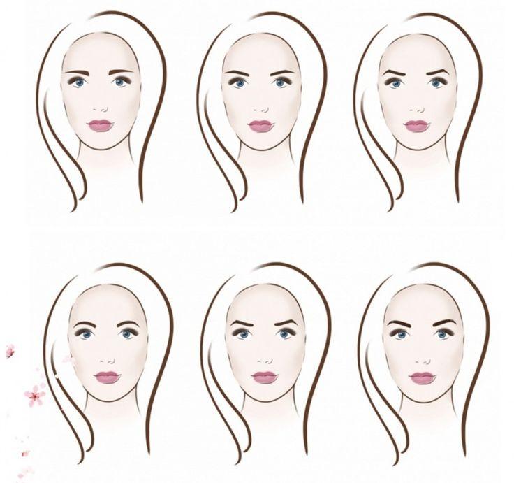 Схемы коррекции лица: румяна и брови 0