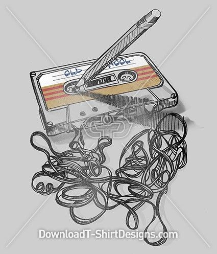 Old School Music Cassette Tape. Download this design and print on your T-Shirts or products today at: http://downloadt-shirtdesigns.com/downloadt-shirtdesigns-com-2122888.html