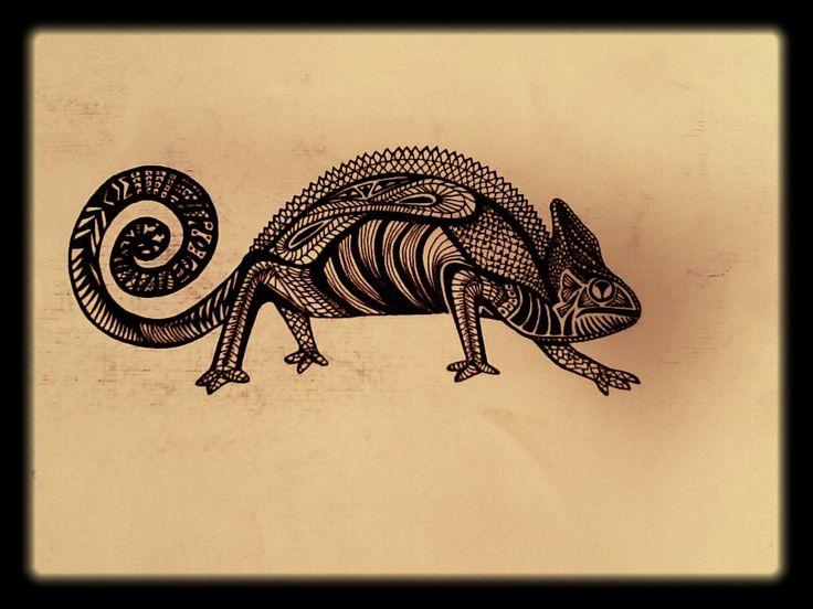 iguana camaleon