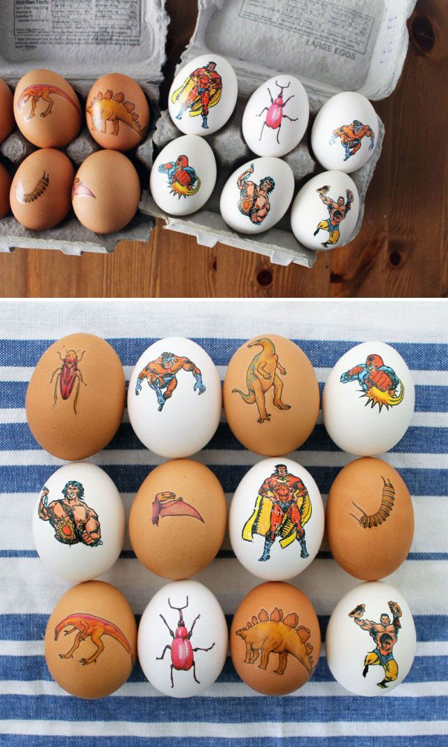 Use temporary tattoos to DiY these Easter eggs.
