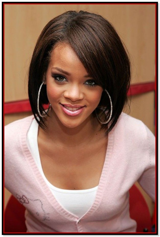 Flat Iron Hairstyles For Black Short Hair  Best Hairstyle Image  Bob Hairstyles Curly hair