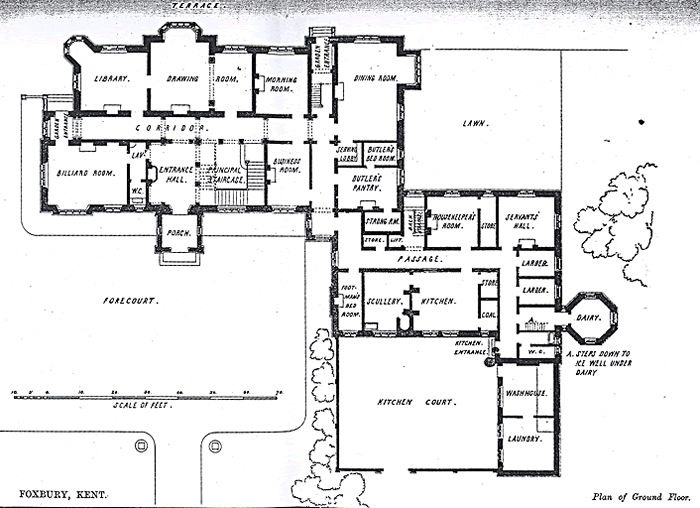 Ground Floor Plan Of Foxbury. Foxbury Is The Estate Of The Chislehurst  Tiarks Family.