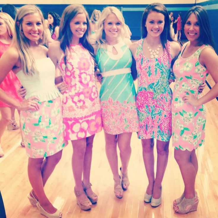 Girls in Lilly, second to the left is my favorite