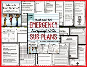https://www.teacherspayteachers.com/Product/Emergency-Language-Arts-Sub-Plans-for-Grades-4-8-1672290