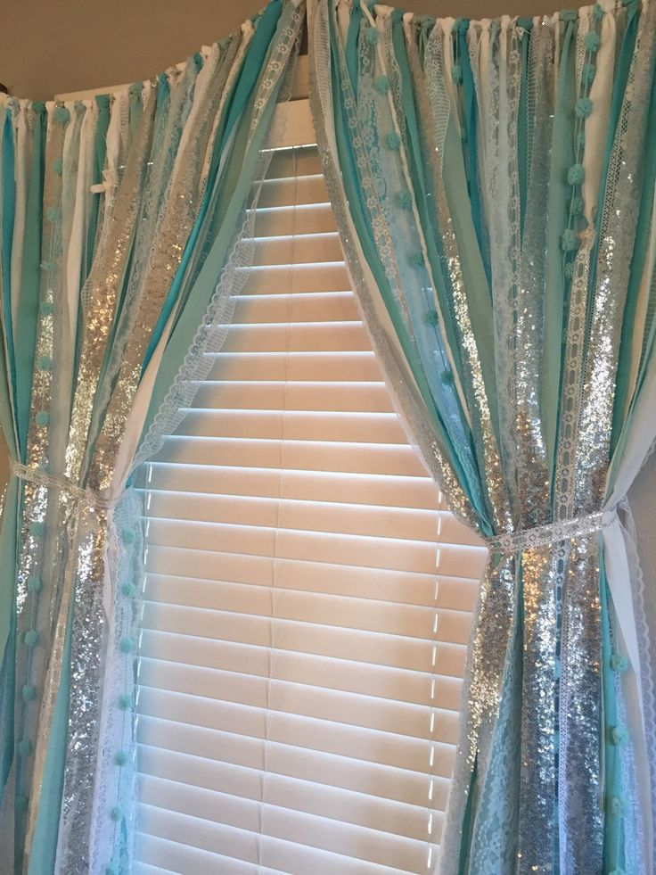Frozen inspired Sparkle Sequin Garland Curtain with by ohMYcharley